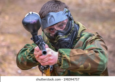 Cool paintball player