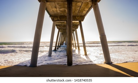 Cool phot of the water under a pier, great for a background