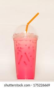 Cool pink milk