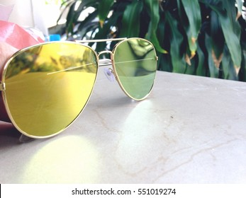 A cool sunglasses.