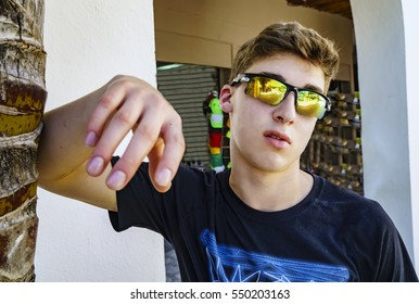 Cool Teen with Sunglasses