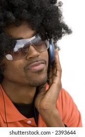 Cool Urban Man Listening to Music