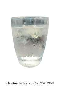 Cool water in glass on white backgound isolated