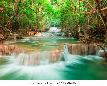 Cool waterfall in the forest, Thailand