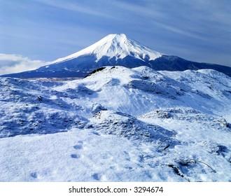 Cool winter view of Mount Fuji