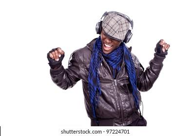 cool young black men dancing