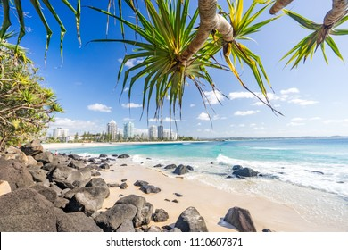 Coolangatta beach looking towards Kirra on the Gold Coast in Australia