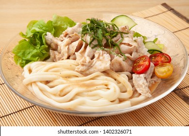 cooled parboiled pork with udon
