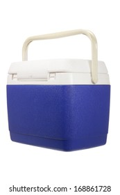 Cooler Box on White Background