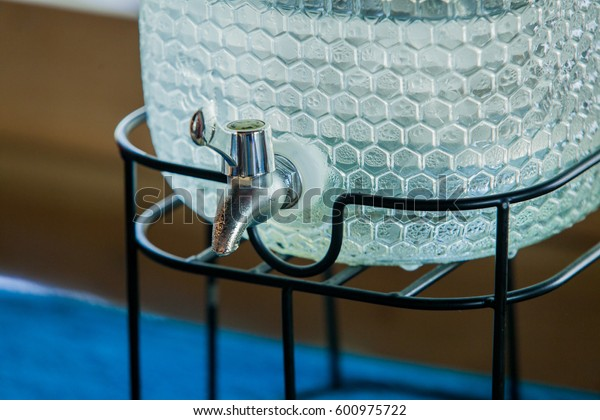 Cooler water glass and use it as a decoration.