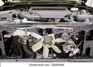 cooling fan under the hood