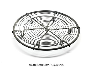Cooling rack isolated on white background