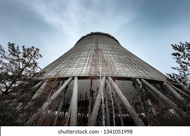 Cooling Tower of Reactor Number 5 In at Chernobyl Nuclear Power Plant, 2019 photo
