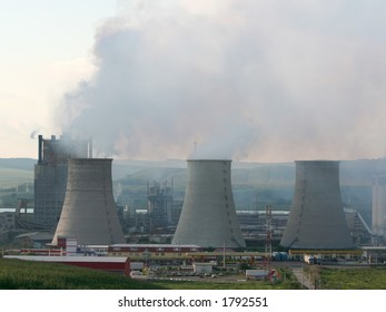 Cooling towers of a chemical factory