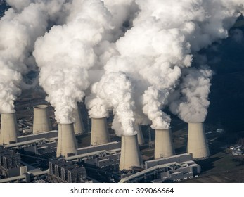 Cooling towers of electrical power plant