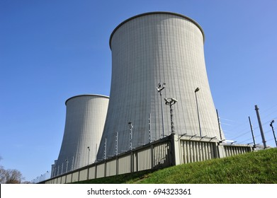 Cooling Towers and Monitoring System of a nuclear power plant, NPP