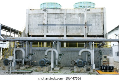 Cooling towers pipe line in petrochemical plant