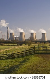 Cooling Towers, Ratcliffe-On-Soar Power Station, Nottingham, England
