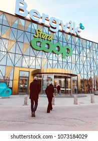 Coop hypermarket one of the KF group's grocery retail trade Karlstad city branch Sweden 1 April 2018