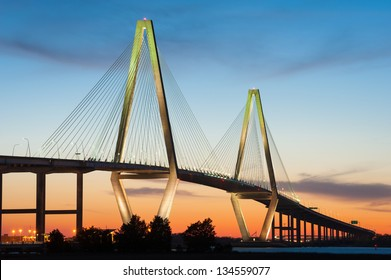 Cooper River Arthur Ravenel Jr. Bridge in Charleston South Carolina