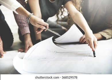 Blueprint plans images stock photos vectors shutterstock cooperation corporate achievement planning design draw teamwork concept malvernweather Choice Image