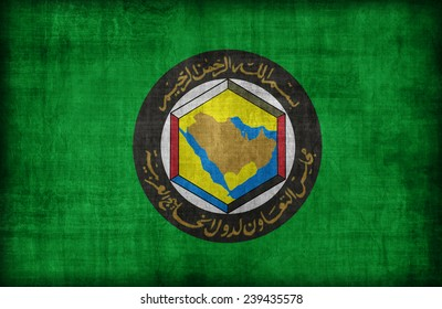 The Cooperation Council for the Arab States of the Gulf flag pattern ,retro vintage style