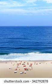 Copacabana Beach from the Promenade roof-tops