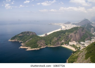 Copacabana Beach as seen from Sugarloaf Mountain