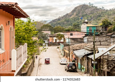 Copan Town, Copan, Honduras. February 2018. A typical view in Copan Town in Honduras