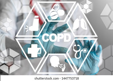 COPD lung disease health treatment concept. Medical pulmonary obstructive chronic illness concept.