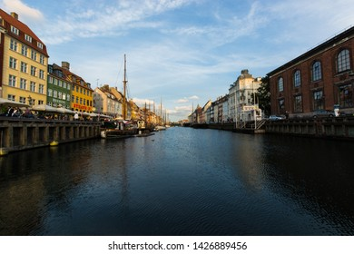 Copenaghen, Denmark, Europe - 1st May 2019 - the beautiful neighboor of Nyhavn in Copenaghen, Danmark.