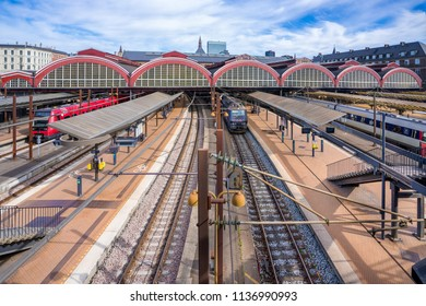 The Copenhagen Central Station, Denmark. It is located in the heart of the city, bordering to  Vesterbro. It handles all public transportation in and out of Copenhagen.