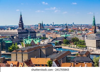 Copenhagen City, Denmark, Scandinavia. Beautiful summer day