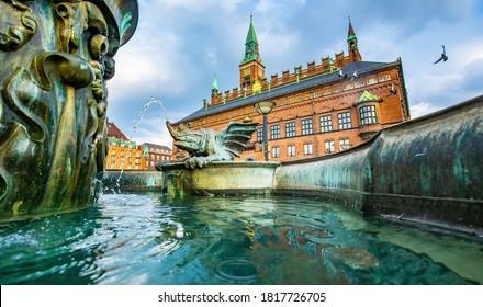 Copenhagen City Hall view, Denmark