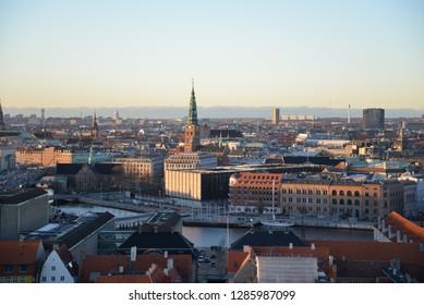 Copenhagen Cityscape, Copenhagen, Denmark, Scandinavia, Europe