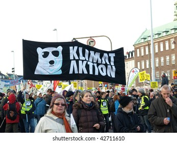 COPENHAGEN - DEC 12: 100,000 participants and marchers join the UN Climate Change Conference Demonstration from the Parliament of Denmark to Bella Center on December 12, 2009 in Copenhagen Denmark.