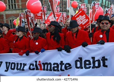 COPENHAGEN - DEC 12: Tens of thousands of people demonstrate in the Danish capital for speedy action by the UN climate conference to halt global warming on December 12, 2009 in Copenhagen, Denmark.