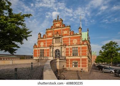 COPENHAGEN, DENMARK - 24 JUN 2016: Facade of the Borsen - Stock exchange in Slotsholmen