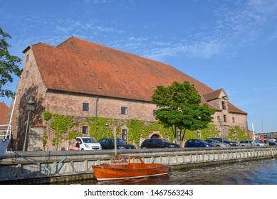 Copenhagen, Denmark - 25 June 2019: old traditional house at Copenhagen in Denmark