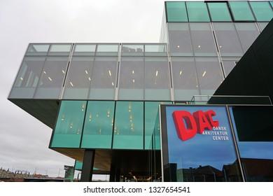 COPENHAGEN, DENMARK -26 SEP 2018- View of the Danish Architecture Center (Dansk Arkitektur Center or DAC) in Copenhagen, Denmark.