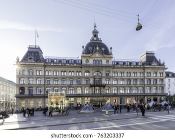 Copenhagen, Denmark - 29 Sep, 2017: Magasin du Nord, a Danish department store with flagship store at Kongens Nytorv in Copenhagen. Company is owned by the British department store retailer Debenhams