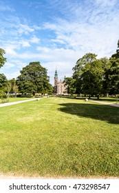 Copenhagen, Denmark, August 02, 2016: Rosenborg Castle is a renaissance castle located in the centre of capital.