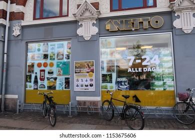 COPENHAGEN, DENMARK - august 10, 2018: NETTO danish super market.