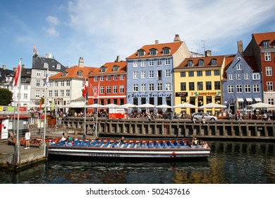 COPENHAGEN, DENMARK - AUGUST 24, 2016: Nyhavn canal view
