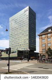 Copenhagen / Denmark - August 25 2016 SAS Royal hotel (now Radisson Blu) by Arne Jacobsen