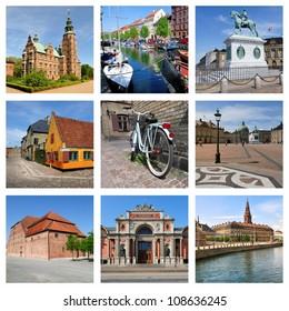 Copenhagen, Denmark. Collage