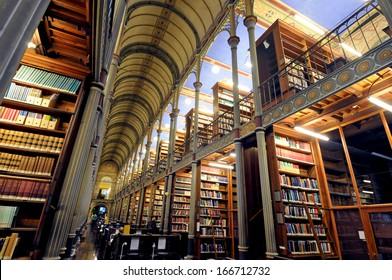 COPENHAGEN, DENMARK - DECEMBER 05 : interior view of the historical University Library, on December 05, 2007 in Copenhagen, Denmark.