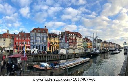 Copenhagen Denmark December 2 Rd 2017 Nyhavn Stock Photo Edit Now