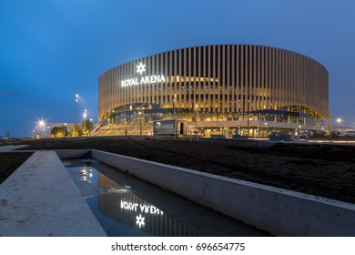Copenhagen, Denmark - February 02, 2017: Exterior view of the new multipurpose indoor arena