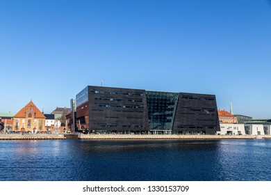 Copenhagen, Denmark - February 27, 2019: The Royal Library, also know as the Black Diamond